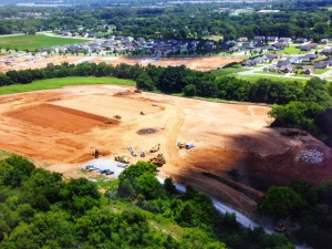 Site Work at Overall Creek